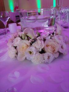 décoration florale blanche
