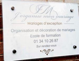 plaque lieu de formation j'organise mon mariage