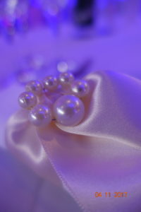 perle sur ruban de mariage